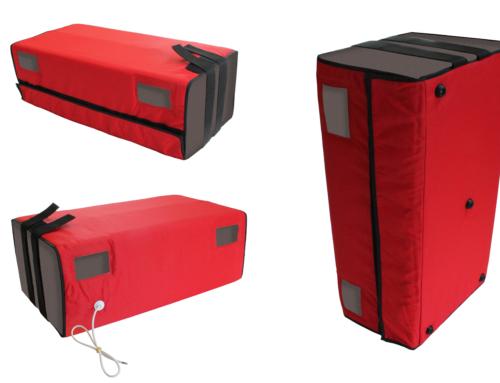 Elemento riscaldante per contenitori batteria